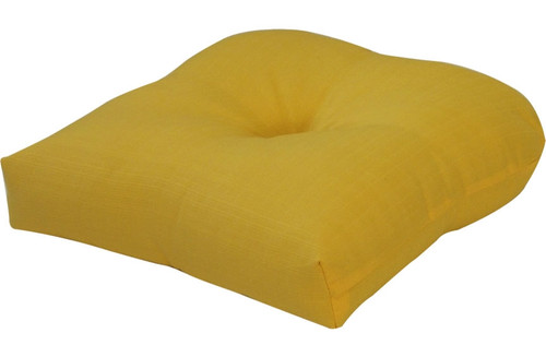 Outdoor Solid Yellow Single Cushion Set of 2