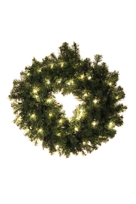 "30"" Norway Prelit Wreath"
