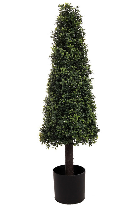 "39"" Artificial Deluxe Boxwood Cone Topiary"