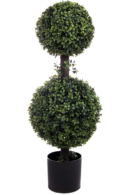 """34"""" Artificial Boxwood Double Ball Topiary"""