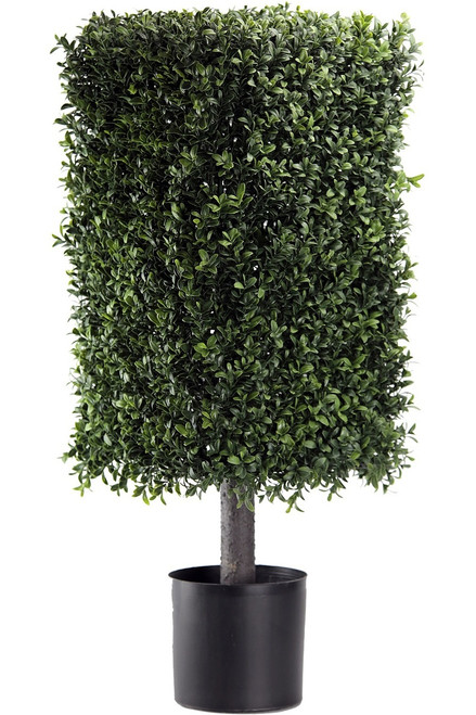 """32"""" Artificial Deluxe Square Boxwood Topiary"""