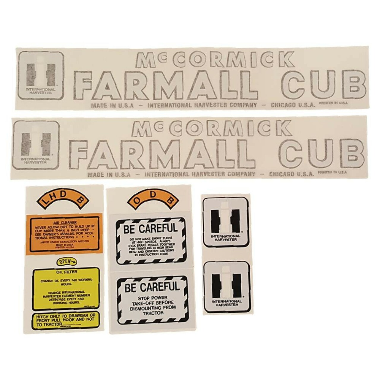 Case Tractor Decal Sets : Decal set for case international harvester complete tractor
