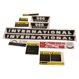 DECAL SET For Case/International Harvester 966