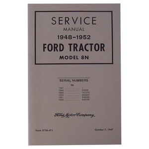 NEW Shop Manual for Ford Tractor 8N 9N