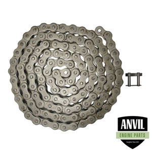 """NEW Roller Chain Rivet Type (10ft) 80H Size chain Pitch-1.00"""" Width-0.625"""""""