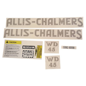 DECAL SET For Allis Chalmers WD45; WD45 GAS; WD45 W/W226 ENG; WD45D
