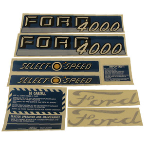 DECAL SET For Ford New Holland 4000 4 CYL 62-64 C1115-1550T
