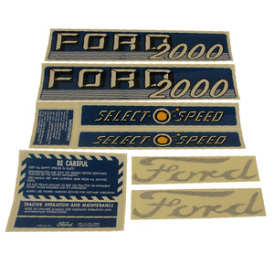 DECAL SET For Ford New Holland 2000 4 CYL 62-64 C1115-1538T