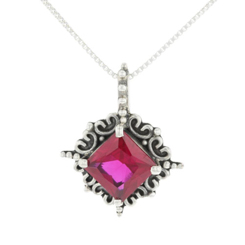 Dark Ruby Necklace