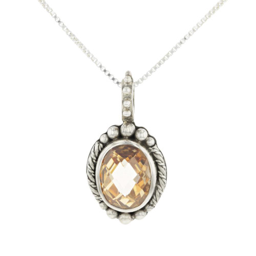 Champagne Citrine Necklace