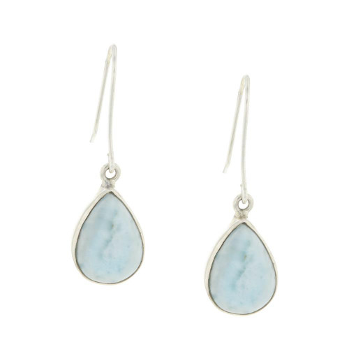 Light Larimar Teardrop Earrings