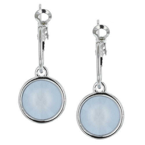 Powder Blue Rhodium Bella Earrings