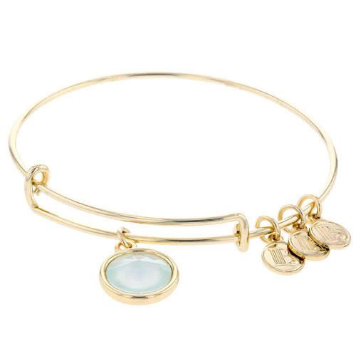 Powder Green Charm Bracelet Gold Plated