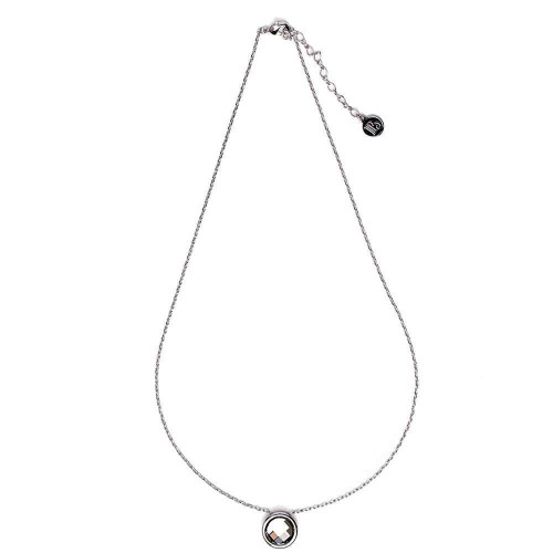 Borun Smokey Rhodium Necklace