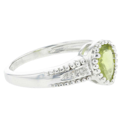 Dreamy Peridot Solitaire Accent Ring