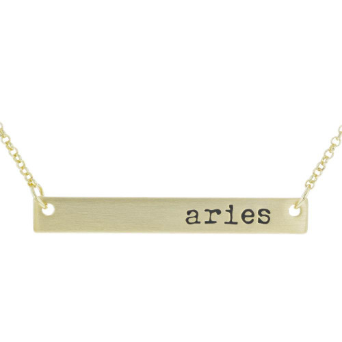 Aries Bar Necklace