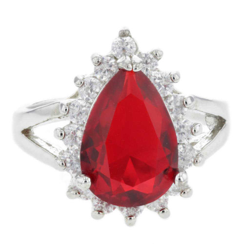Ice Queen Red Crystal Ring