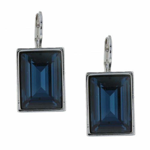 Passion Royal Blue Rhodium Earrings