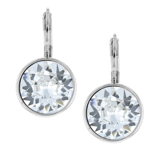 Quest White Crystal Earrings