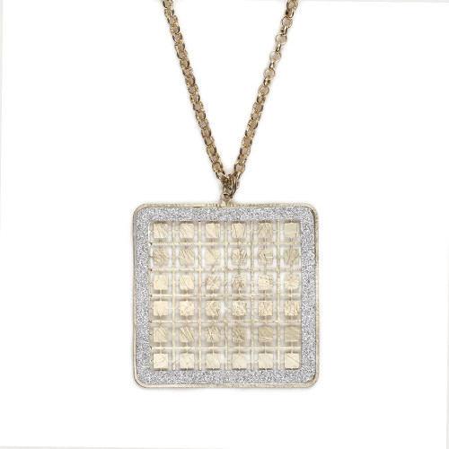 Square Grid Necklace