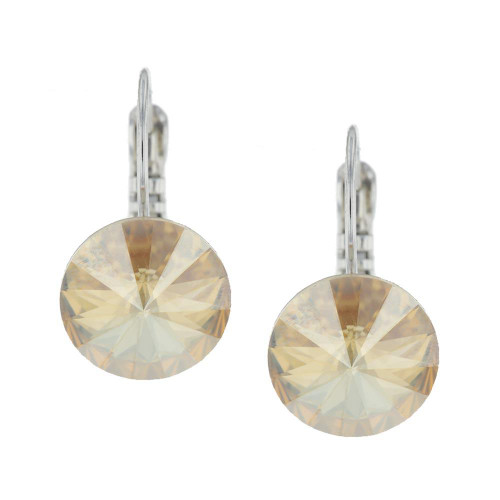 Glam Crystal Champagne Earrings
