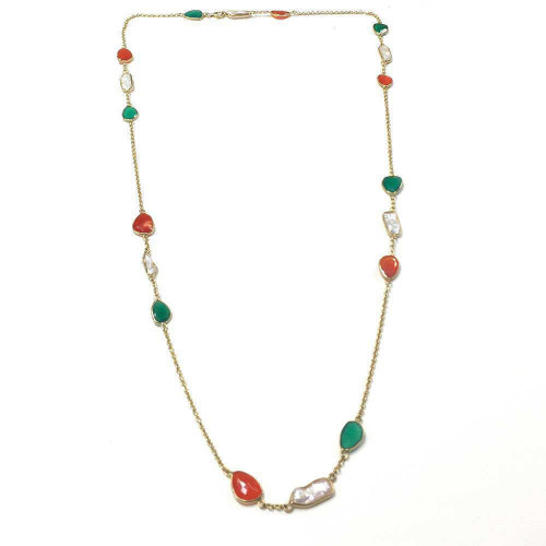 Carnelian Onyx Necklace