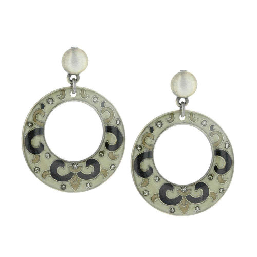 Spanish Silver Queen Earrings