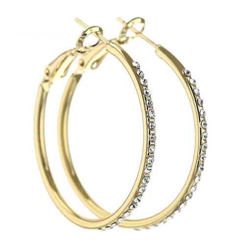 Endless Gold Hoop Earring