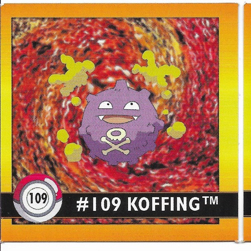 Pokemon koffing square sticker artbox 6594 109