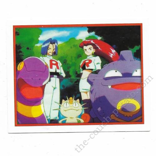Pokemon team rocket merlin sticker card