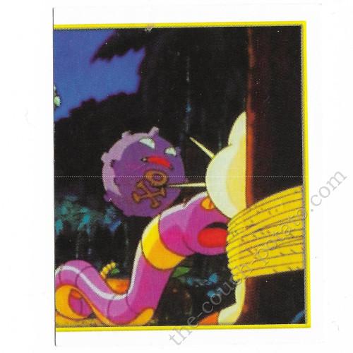 Pokemon koffing ekans merlin sticker card