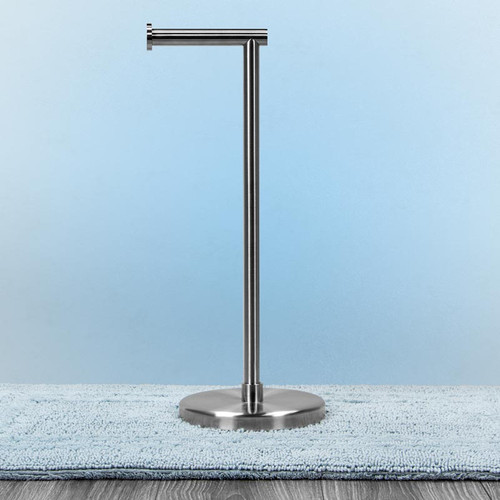 Freestanding Toilet Paper Holder (Brushed Stainless Steel)