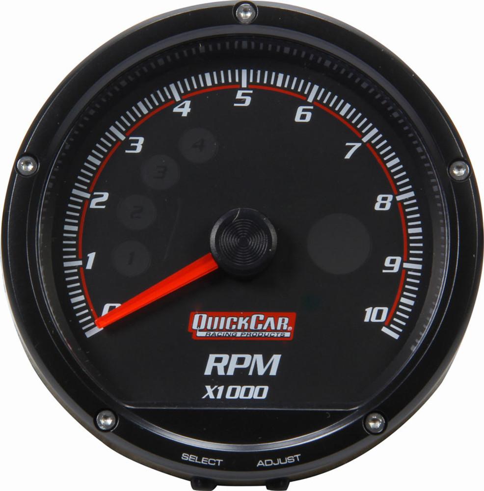 63-002 Redline Multi-Recall Tachometer Black - Quickcar