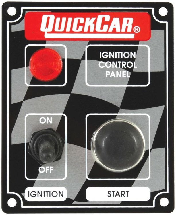 Switch Panel - Dash Mount - 3-3/8 in x 4-1/4 in - 1 Toggle/1 Momentary Push Button - Warning Light - Aluminum - Each