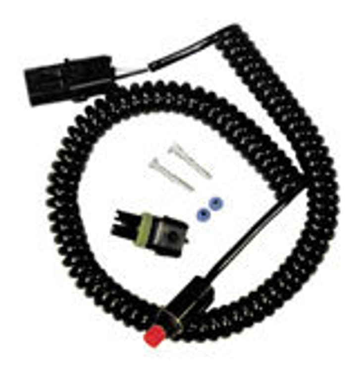 Push Button Switch - Inline Kill Switch - Spiral Coiled Cord - Steering Wheel Mount - Kit