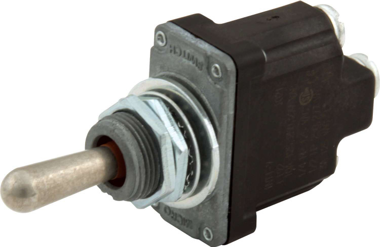 Toggle Switch - Micro - Starter - Momentary - Weatherproof - Single Pole - 25 Amp Continuous - 12V - Each
