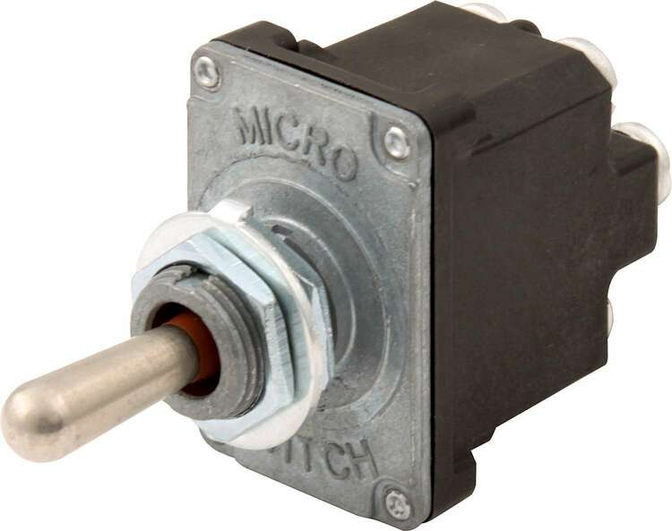 Toggle Switch - Momentary/Off/Momentary - Weatherproof - Double Pole - 25 Amp Continuous - 12V - Each