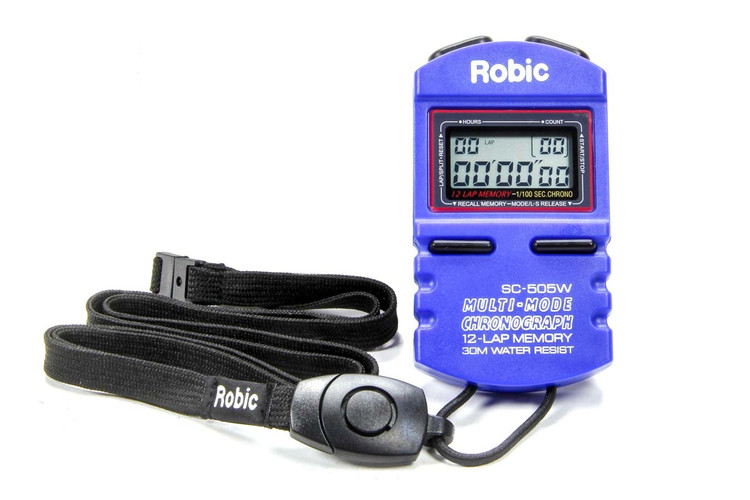 Stopwatch - Digital - 5 Lap Memory - Multi-Mode - Blue - Each