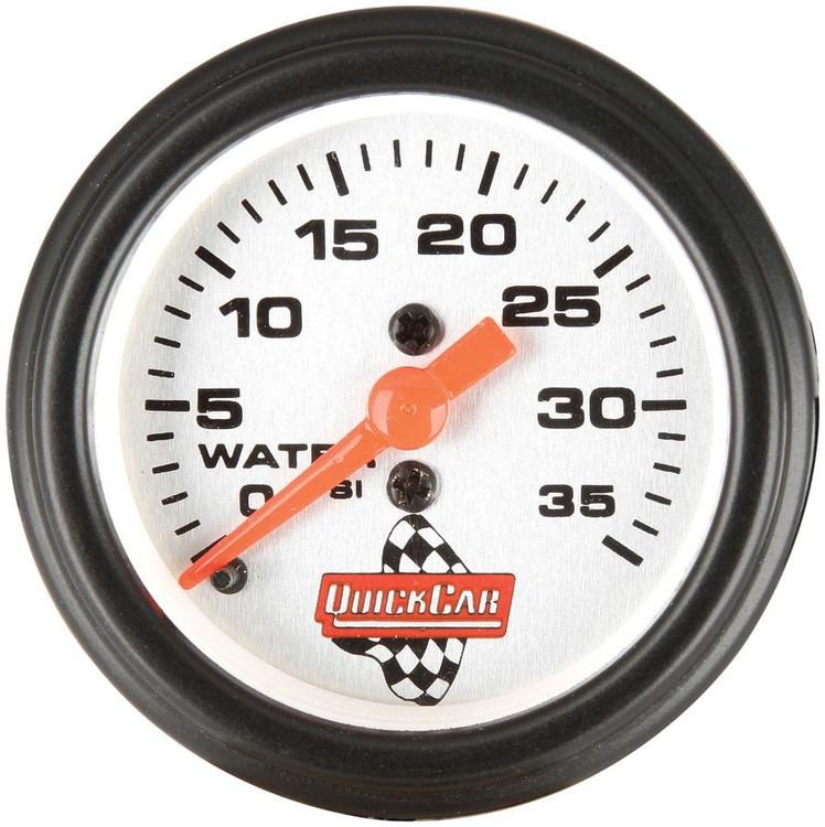Gauge - Water Pressure - 0-35 psi - Mechanical - Analog - 2-1/16 in Diameter - White Face - Each