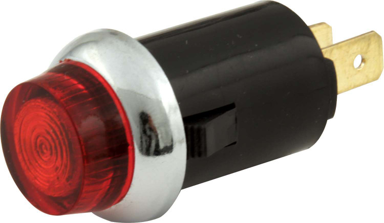 Warning Light - 12V - 3/4 in Diameter - Red - Quickcar Gauge/Switch Panels - Each