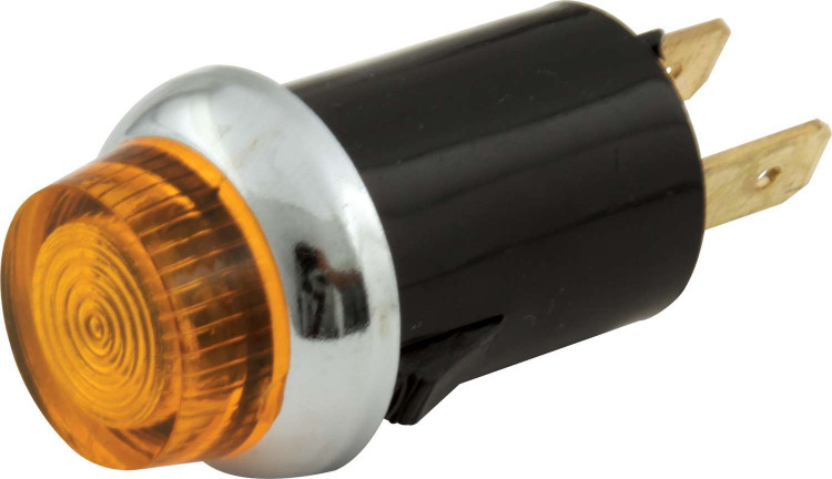 Warning Light - 12V - 3/4 in Diameter - Amber - Quickcar Gauge/Switch Panels - Each
