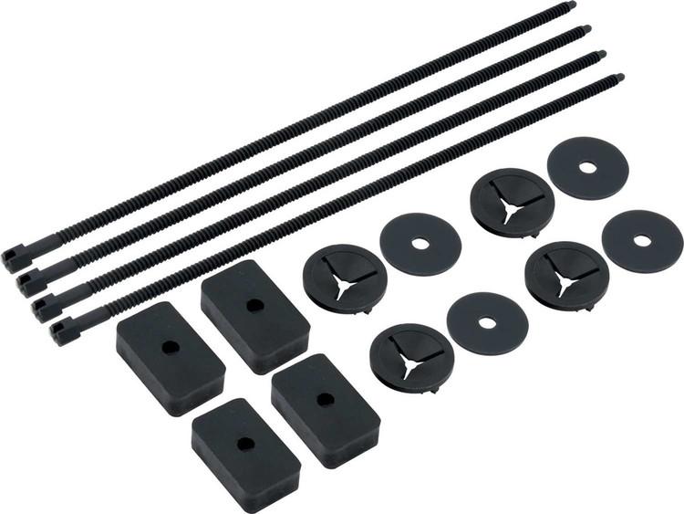 Electric Fan Mount Kit - Push Through Radiator Style - Nylon - Black - Set of 4