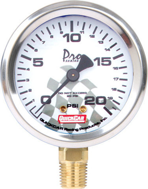 56-002 - Tire Pressure Gauge Head - 0-20 psi - Quickcar Tire Pressure Gauges - Each