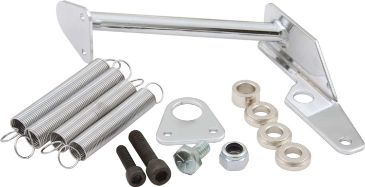 65-096 - Throttle Return Spring Kit - Carburetor Mount - Steel - Chrome - Square Bore/Holley 2300 Carburetors - Kit