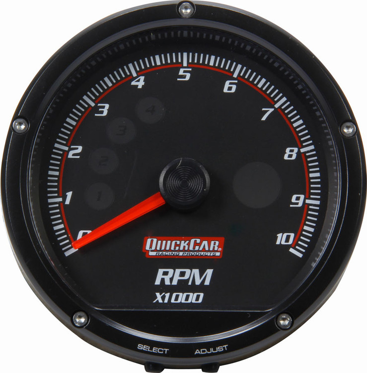 "63-002 - Gauge - Tachometer - Redline - 0-10,000 RPM - 3"" Diameter - Multi Recall - Black Face"