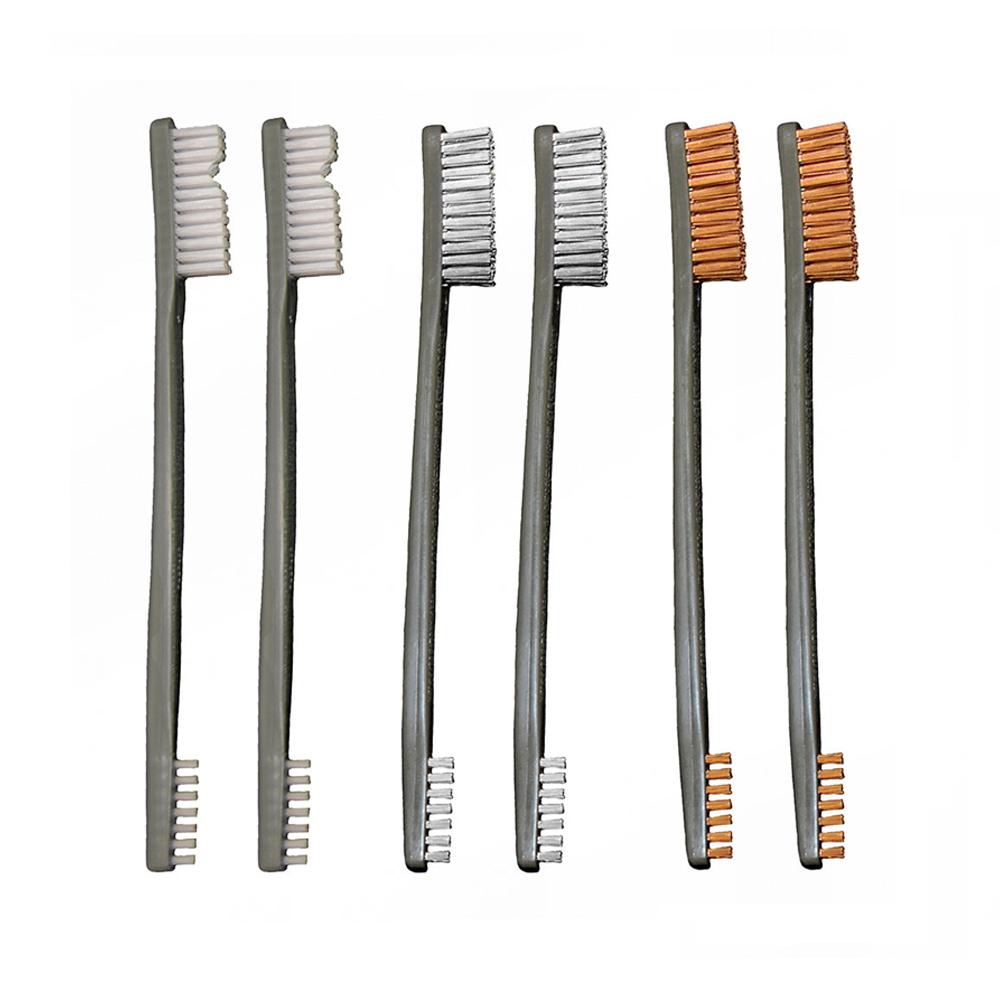 9 Pack Ap Brushes 3 Nylon 3 Bronze 3 Stainless Steel