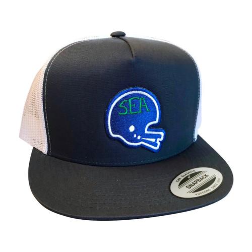 d57b3f7d ... Seattle Football Hawks Kickers Helmet adult trucker hat
