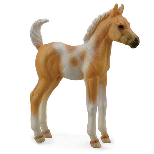 Pinto Foal Standing Palomino CollectA