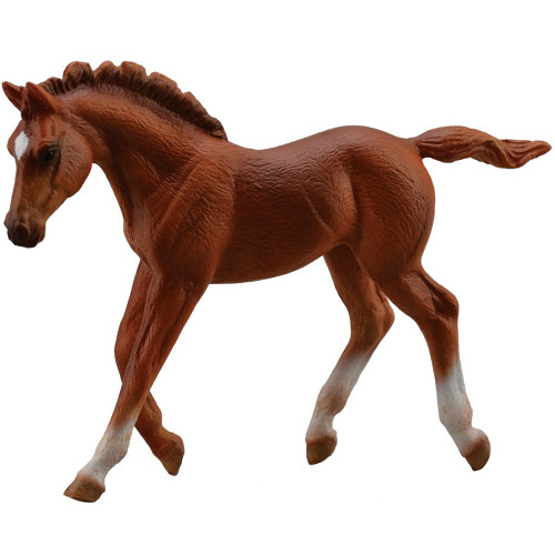 Thoroughbred Foal Walking Chestnut CollectA