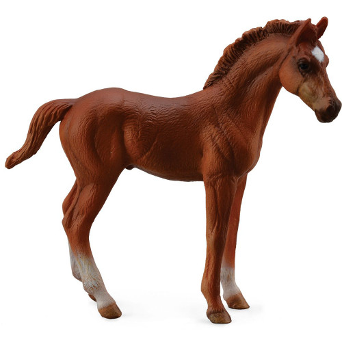 Thoroughbred Foal Standing Chestnut CollectA
